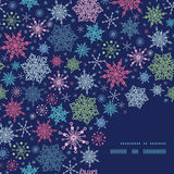 Vector snowflakes on night sky Christmas snowflake Royalty Free Stock Images