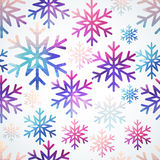 Vector snowflakes pattern. Abstract snowflake of geometric shape royalty free stock photography