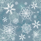 Vector snowflakes seamless background. Winter, Christmas, New Year theme, for continuous replicate Stock Photo