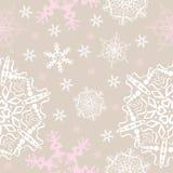 Vector snowflakes seamless background Stock Photo