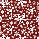 Christmas snowflakes vector seamless pattern background stock illustration