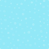 Vector snowflakes seamless pattern Royalty Free Stock Image