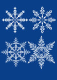 Vector snowflakes set Stock Images