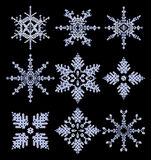 Vector snowflakes Royalty Free Stock Images