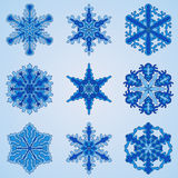 Vector   Snowflakes Set Royalty Free Stock Photography