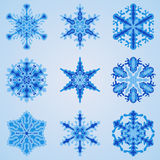 Vector Snowflakes Set Stock Photography