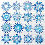 Vector snowflakes set Royalty Free Stock Image