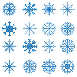 Vector snowflakes set for Christmas design Stock Image