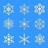 Vector snowflakes set for Christmas design. Royalty Free Stock Photography