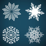 Vector snowflakes set for Christmas design Stock Images