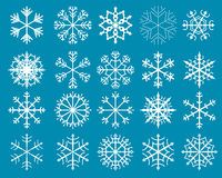 Vector Snowflakes Set Royalty Free Stock Images