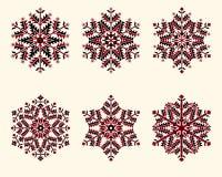 Vector snowflakes set. Elegant snowflakes for Stock Photo