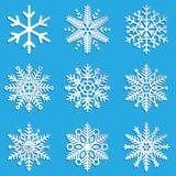 Vector snowflakes set. Elegant snowflakes for Stock Image