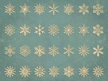Vector snowflakes set. Elegant snowflakes for Royalty Free Stock Image