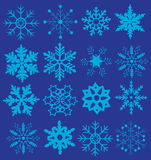 Vector snowflakes set. Vector illustration of a snowflake set Christmas background Royalty Free Stock Photography