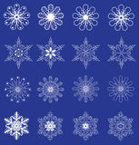 Vector snowflakes set. Vector illustration of a snowflake set Christmas background Stock Photography