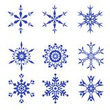 Vector snowflakes set isolated on white background Stock Image