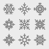 Vector snowflakes set. Snowflakes icons Royalty Free Stock Image