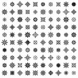 100 vector snowflakes Royalty Free Stock Photos