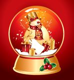 Vector snowglobe Royalty Free Stock Images