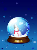Vector snowglobe with snowman Royalty Free Stock Images