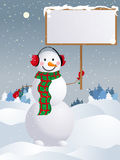 Vector snowman Royalty Free Stock Images