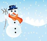 Vector snowman Royalty Free Stock Photo