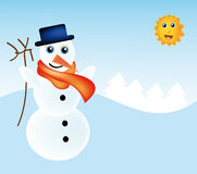 Vector snowman Royalty Free Stock Image