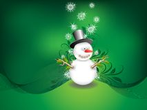 Vector snowman Royalty Free Stock Photography