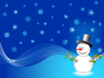 Vector snowman Stock Image