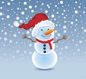 vector snowman Stock Image