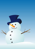 Vector snowman Stock Photography