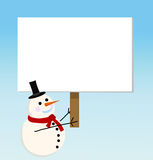 Vector snowman card for christmas Royalty Free Stock Image