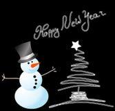 Vector snowman card for christmas Stock Image