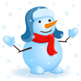 Vector snowman. Stock Photo