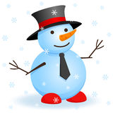 Vector snowman. Royalty Free Stock Images