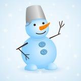 Vector snowman. Stock Photos