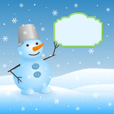 Vector snowman. Royalty Free Stock Photography