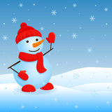 Vector snowman. Stock Image