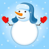 Vector snowman. Royalty Free Stock Image