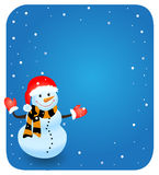 Vector snowman. EPS vector illustration for Stock Photography