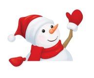 Vector snowman. Royalty Free Stock Photo