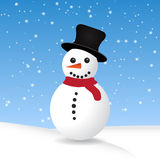 Vector snowman Stock Images