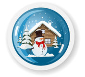 Vector snowman sticker Stock Image