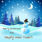 Vector snowman. Vector illustration for Christmas and New Year design. Vector illustration for Christmas and New Year design Royalty Free Stock Photos