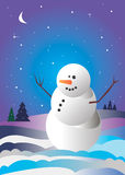 Vector snowman xmas christmas illustration white Royalty Free Stock Images