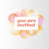Vector Soap bubbles. Holiday invitation with colored soap bubbles abstract vector  illustration Stock Photos