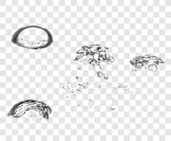 Vector Soap Water Bubbles. royalty free stock photography