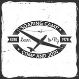 Vector Soaring camp retro badge. Royalty Free Stock Photo