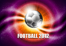 Vector soccer background. Soccer ball in the bright background of the dynamic Royalty Free Stock Photos